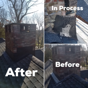 Framingham leaking roof chimney